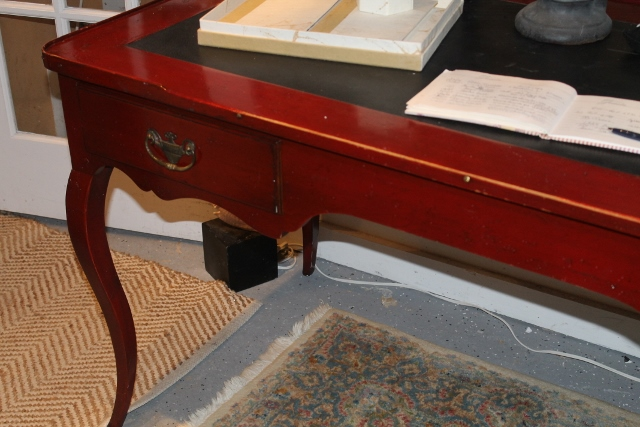 Red Writing desk French Heritage