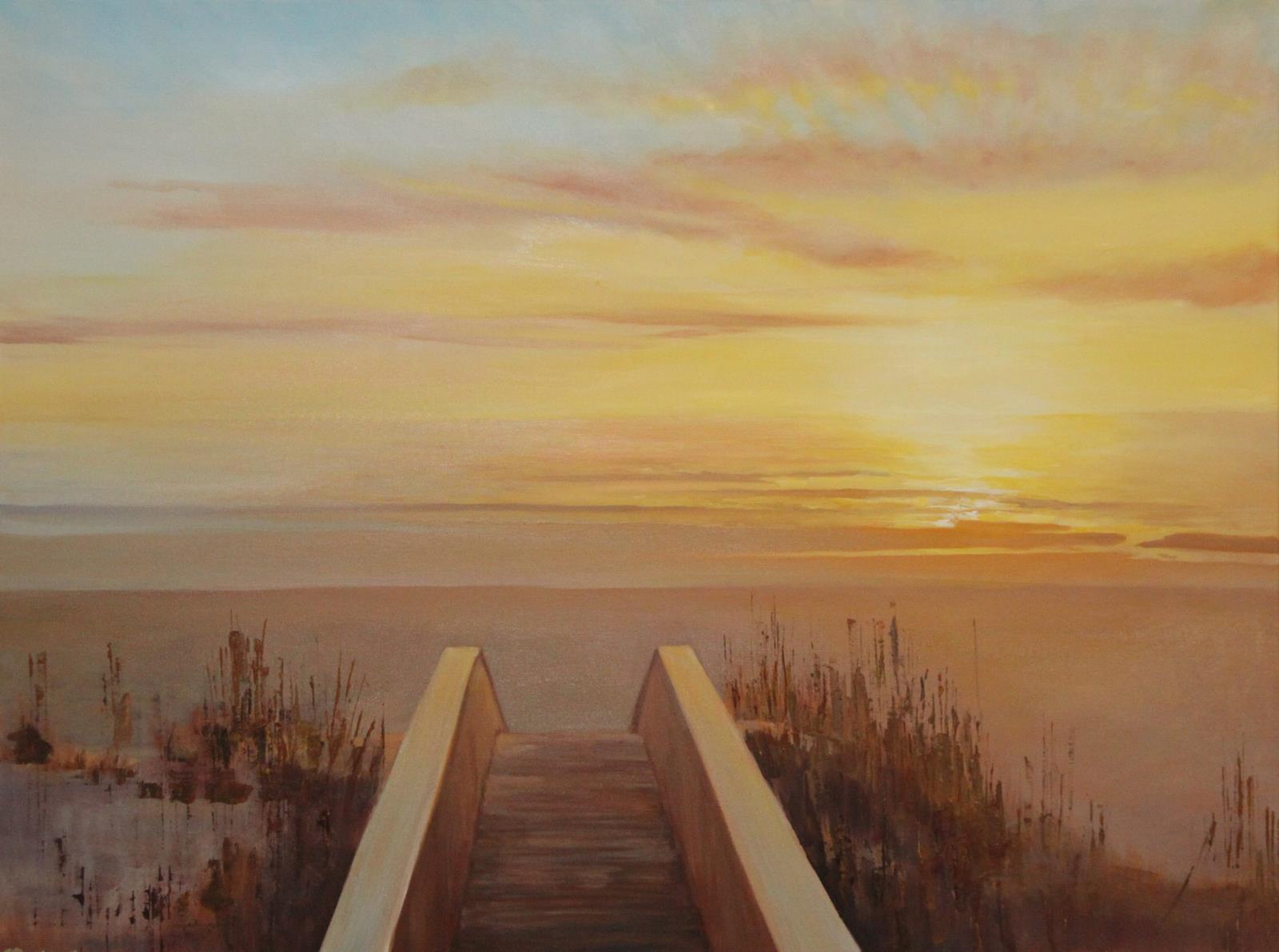 Water view oil paintings